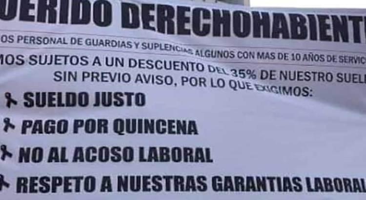 Amenazan trabajadores inconformes con demandar al ISSSTE