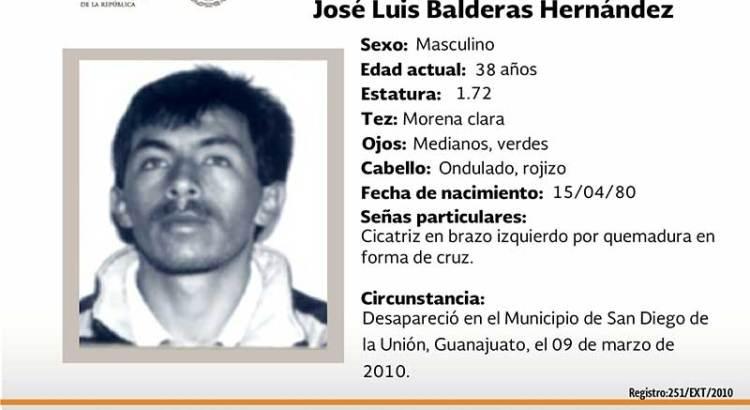 ¿Has visto a José Luis Balderas Hernández?
