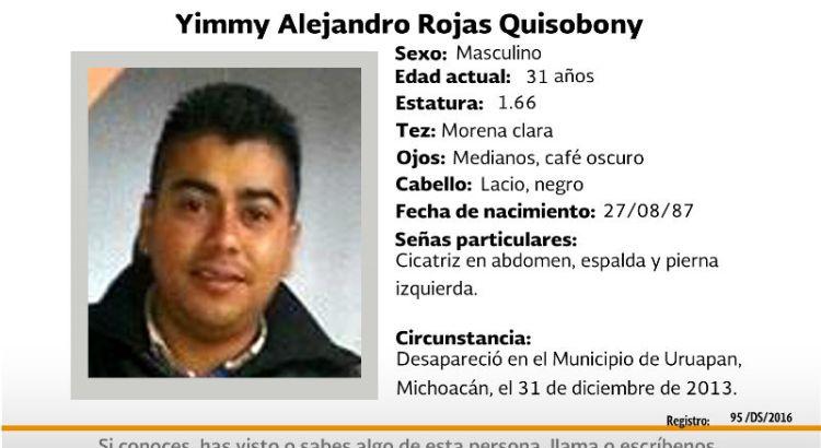 ¿Has visto a Yimmy Alejandro Rojas?