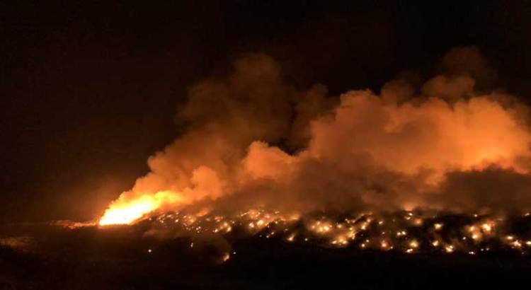Controlado el incendio del relleno sanitario de La Paz