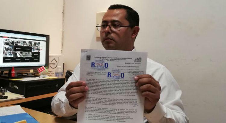 Presenta denuncia Gerente de OOMSAPAS CSL
