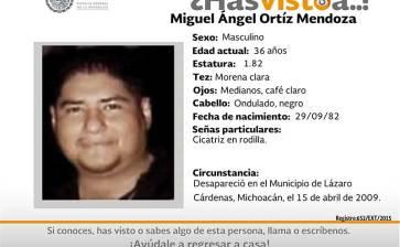 ¿Has visto a Miguel Angel Ortiz Mendoza?