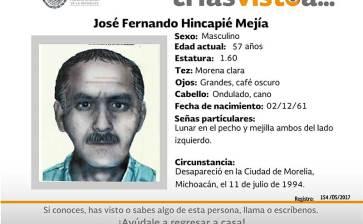 ¿Has visto a José Fernando Hincapié Mejía?