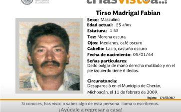 ¿Has visto a Tirso Madrigal Fabián?