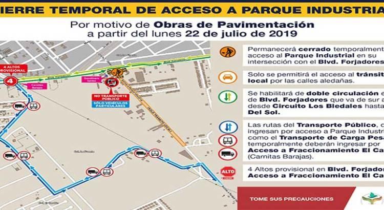 Modificarán temporalmente rutas de transporte de pasajeros