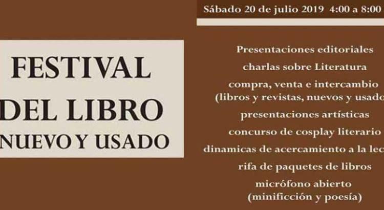 Invitan al Festival del Libro nuevo y usado