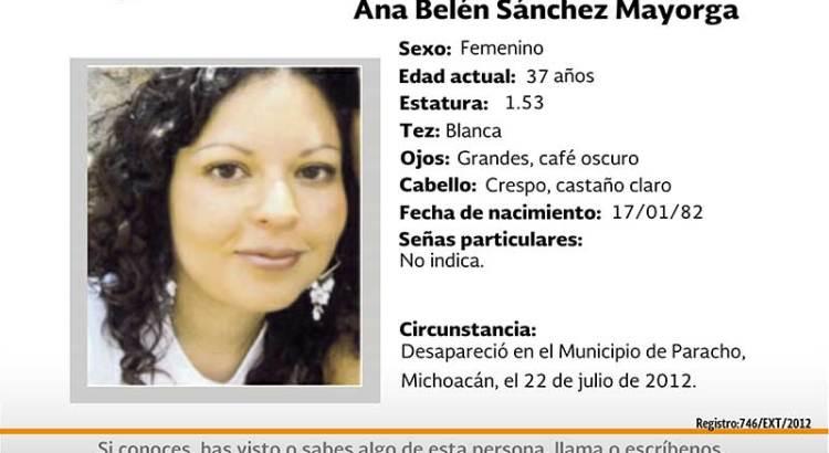 ¿Has visto a Ana Belén Sánchez Mayorga?