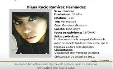 ¿Has visto a Diana Rocío Ramírez Hernández?