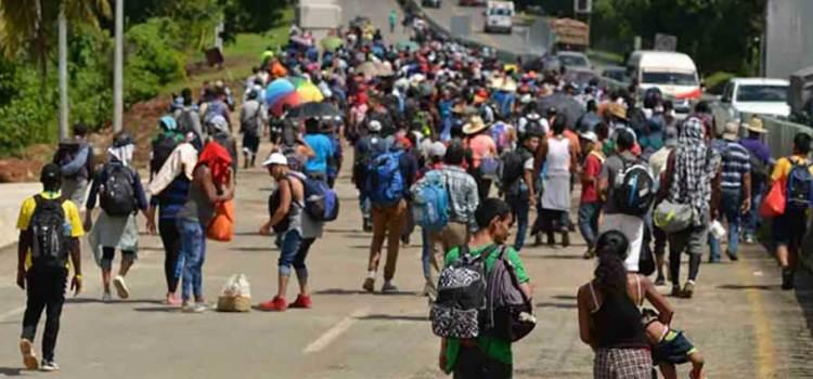 Detiene Guardia Nacional nueva caravana migrante
