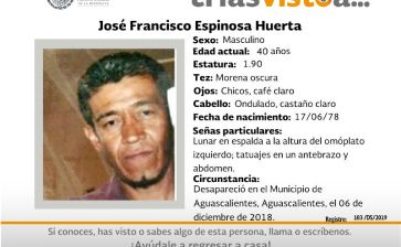 ¿Has visto a José Francisco Espinosa Huerta?