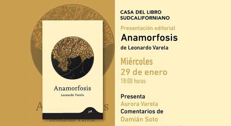 Presentarán Anamorfosis de Leonardo Varela