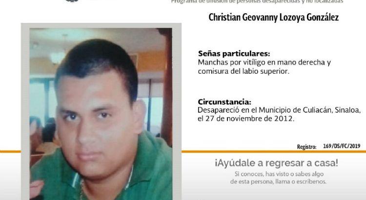 ¿Has visto a Christian Geovanny Lozoya González?
