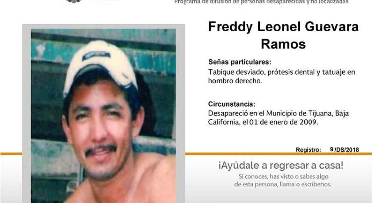 ¿Has visto a Freddy Leonel Guevara Ramos?