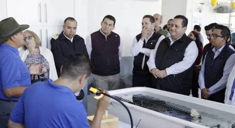 Inaugura Gobernador empresa productora de perlas