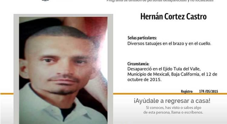 ¿Has visto a Hernán Cortez Castro?