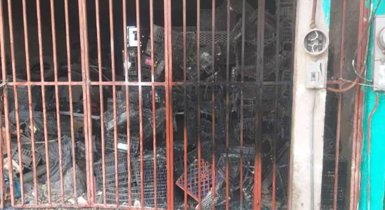 Se incendió bodega en el mercado de Abastos