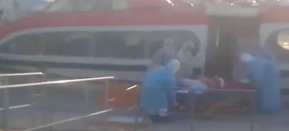 Evacuaron a tripulante del crucero Ossterdam