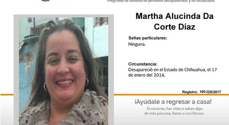 ¿Has visto a Martha Alucinda Da Corte Díaz?
