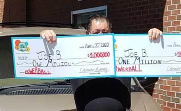 Ganó la lotería dos veces