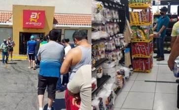 """Largas """"colas"""" en los Supermercados Arámburo"""