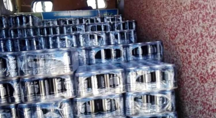 Decomisaron 156 charolas de cerveza