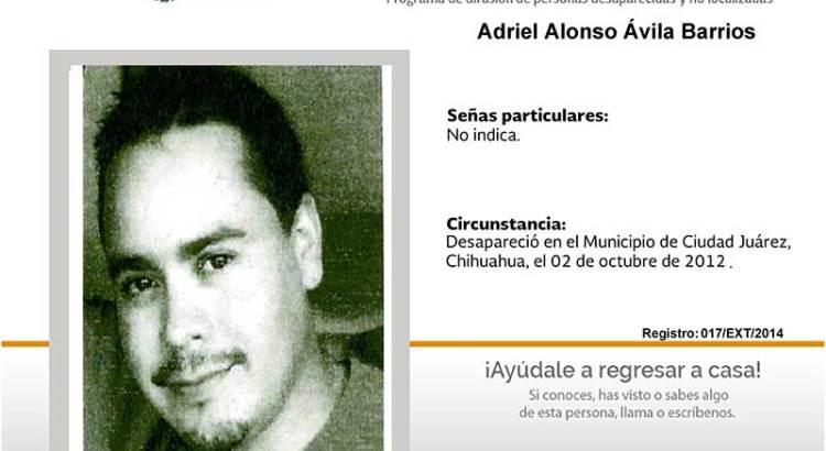 ¿Has visto a Adriel Alonso Avila Barrios?