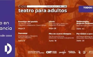 Presentan Ciclo de Teatro para Adultos