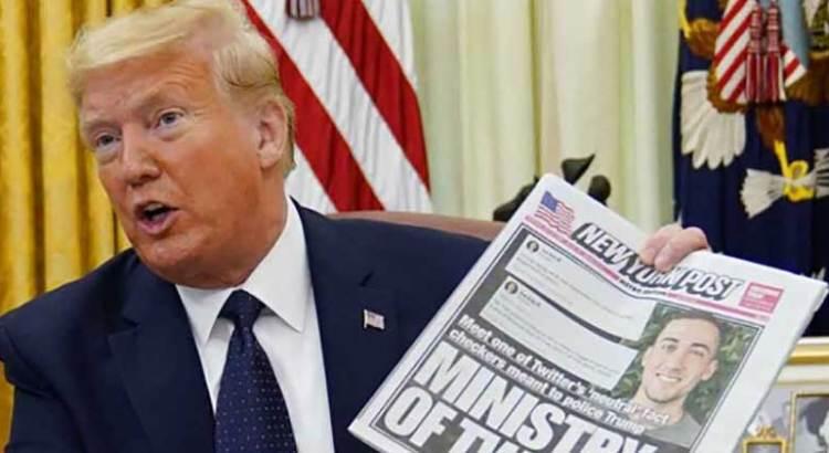 Firma Trump decreto contra campañas de redes sociales