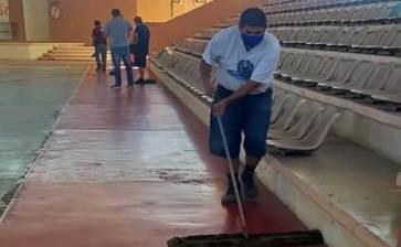 Preparan instalaciones deportivas de Mulegé