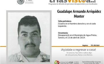 ¿Has visto a Guadalupe Armando Arriquidez Monter?