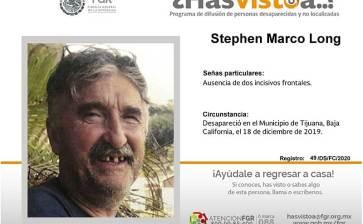 ¿Has visto a Stephen Marco Long?
