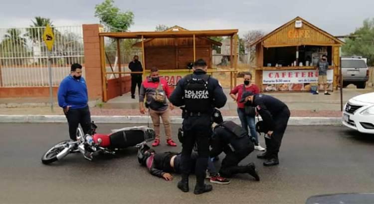 Se accidentó motociclista en El Progreso