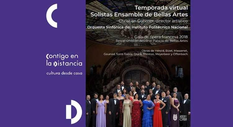 Inicia ensamble de Bellas Artes Temporada virtual 2020