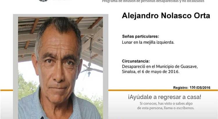 ¿Has visto a Alejandro Nolasco Orta?