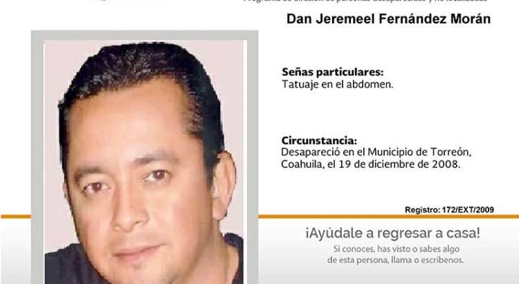 ¿Has  visto a Dan Jeremeel Fernández Morán?