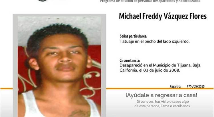 ¿Has visto a Michael Freddy Vázquez Flores?