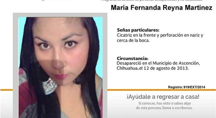 ¿Has visto a María Fernanda Reyna Martínez?