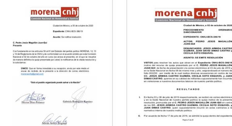 Suspende Morena a Armida Castro