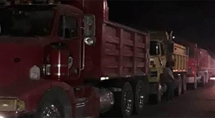 Se manifestaron transportistas en Conagua
