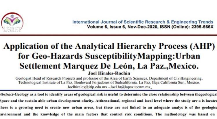 Publica científico de BCS artículo en revista internacional