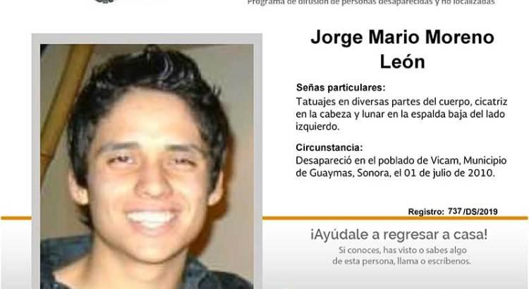 ¿Has visto a Mario Moreno León?
