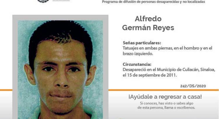 ¿Has visto a Alfredo Germán Reyes?