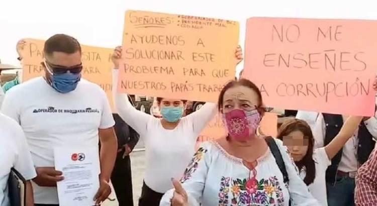 Intenta Lucía Trasviña capitalizar el problema de los camioneros de Las Pocitas