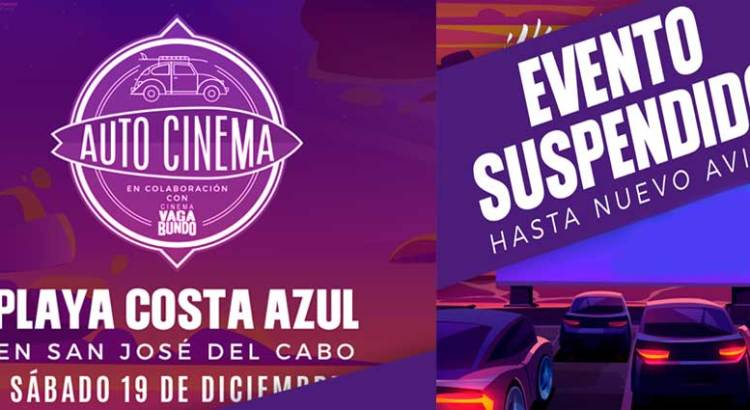 "Suspenden ""Autocinema en la Playa"""