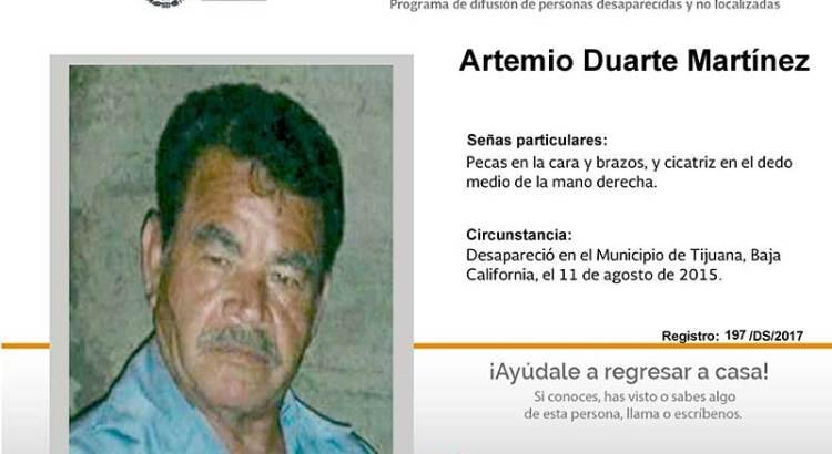 ¿Has visto a Artemio Duarte Martínez?