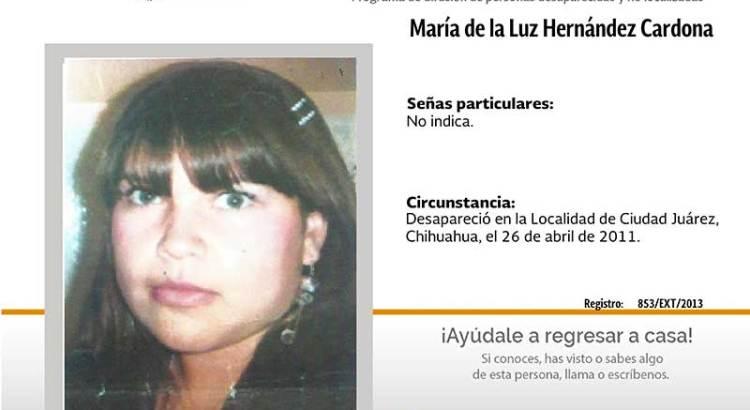 ¿Has visto a María de la Luz Hernández Cardona?