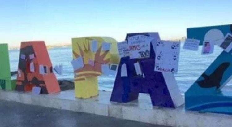 """Convierten a las letras de La Paz en """"tendedero de denuncias"""""""