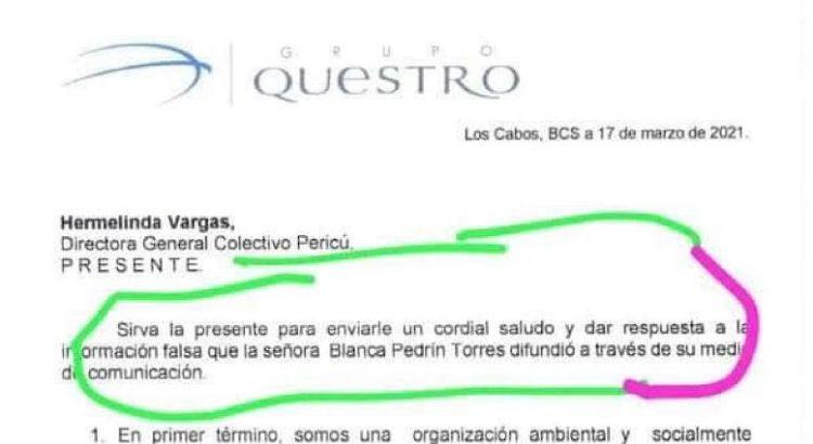 ¿Cómo se atreve Questro a llamarse empresa ambientalista y socialmente responsable?