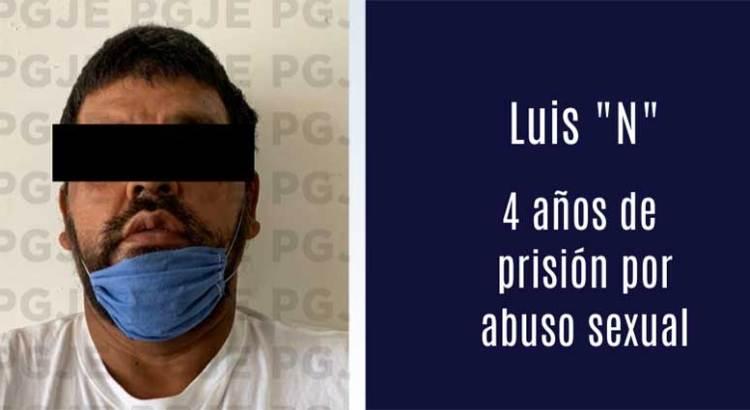 4 años de cárcel le dieron a abusador sexual