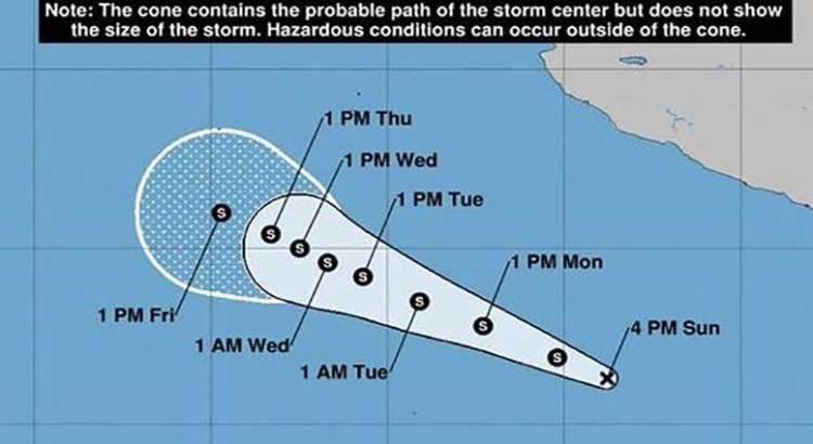 Se forma la depresión tropical 2E